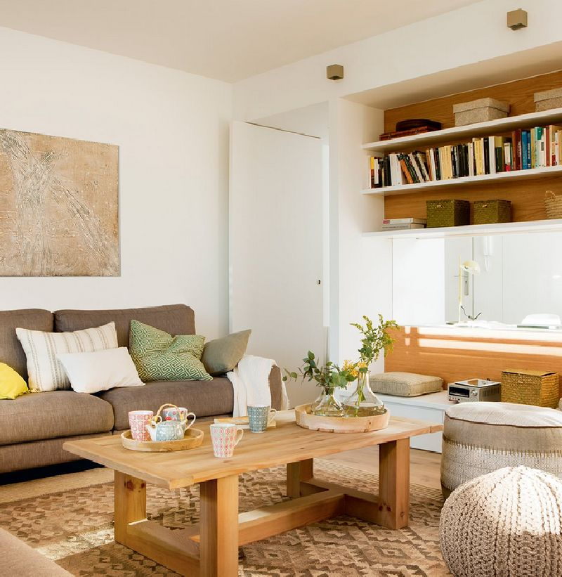adelaparvu.com despre amenajare apartament 67 mp cu birou pe hol, design interior arh Mar Macos, Foto ElMueble (5)