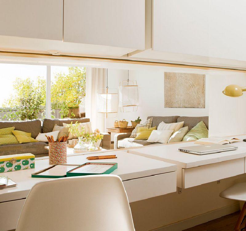 adelaparvu.com despre amenajare apartament 67 mp cu birou pe hol, design interior arh Mar Macos, Foto ElMueble (6)