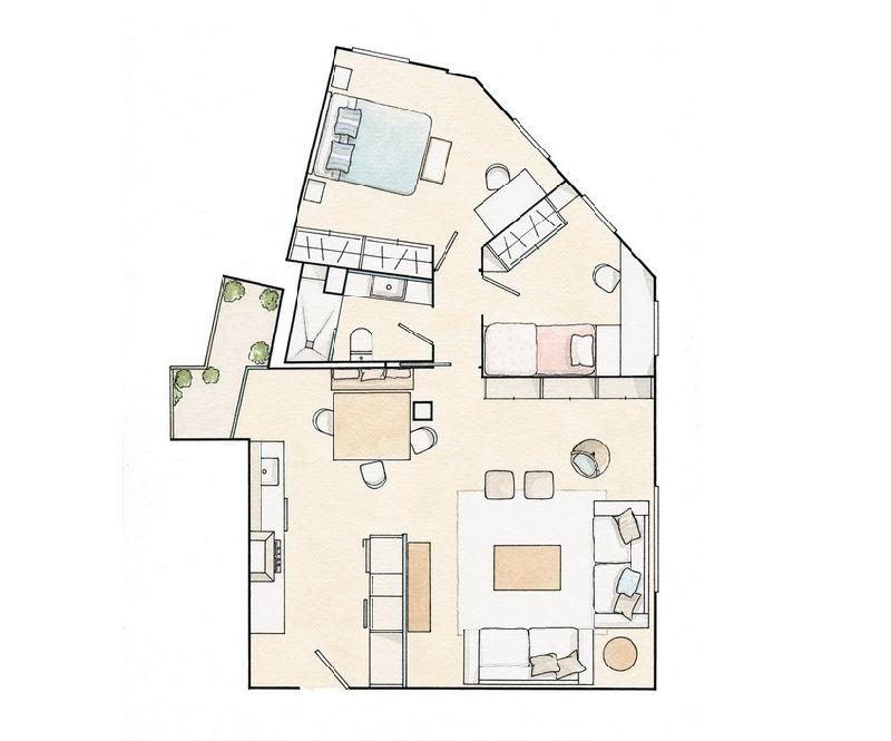 adelaparvu.com despre apartament elegant 60 m, locuinta Spania, designer Marta Prats, Foto ElMueble (12)