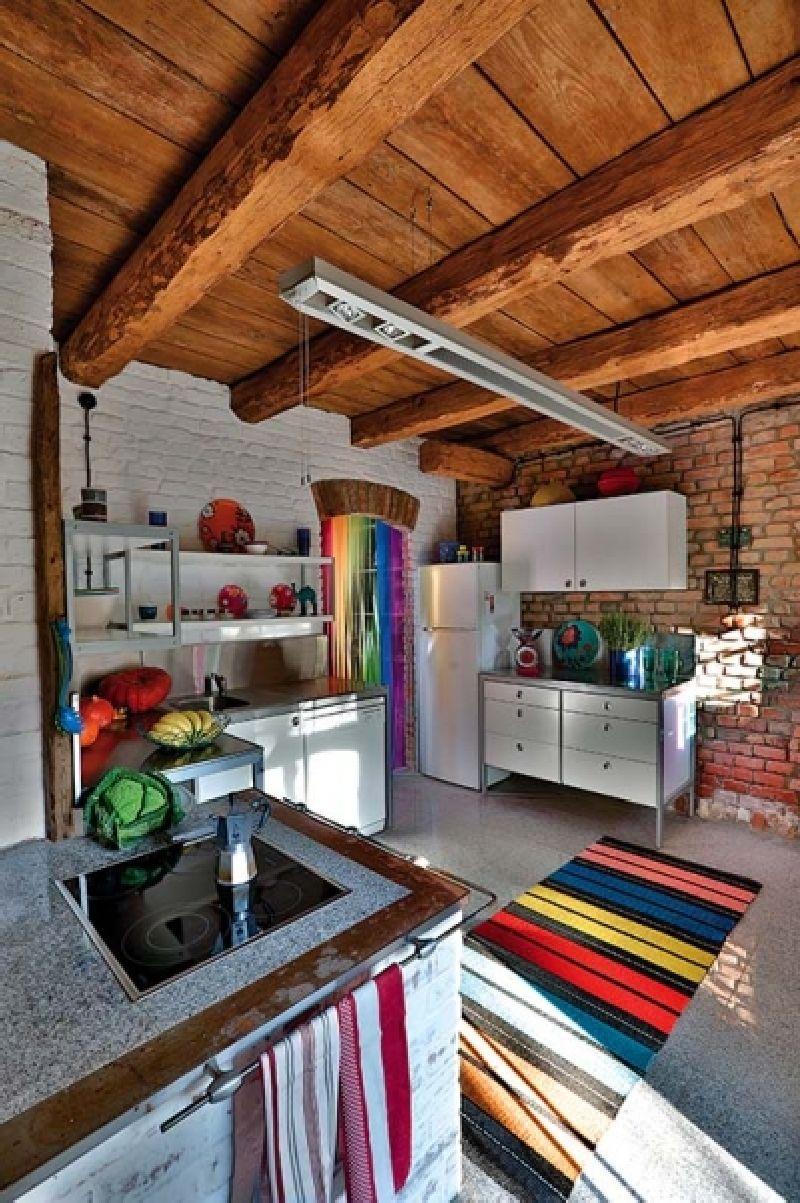 adelaparvu.com despre casa din caramida, rustica la exterior, actuala la interior, design Loft Architekci, Foto Michael Mrowiec (5)
