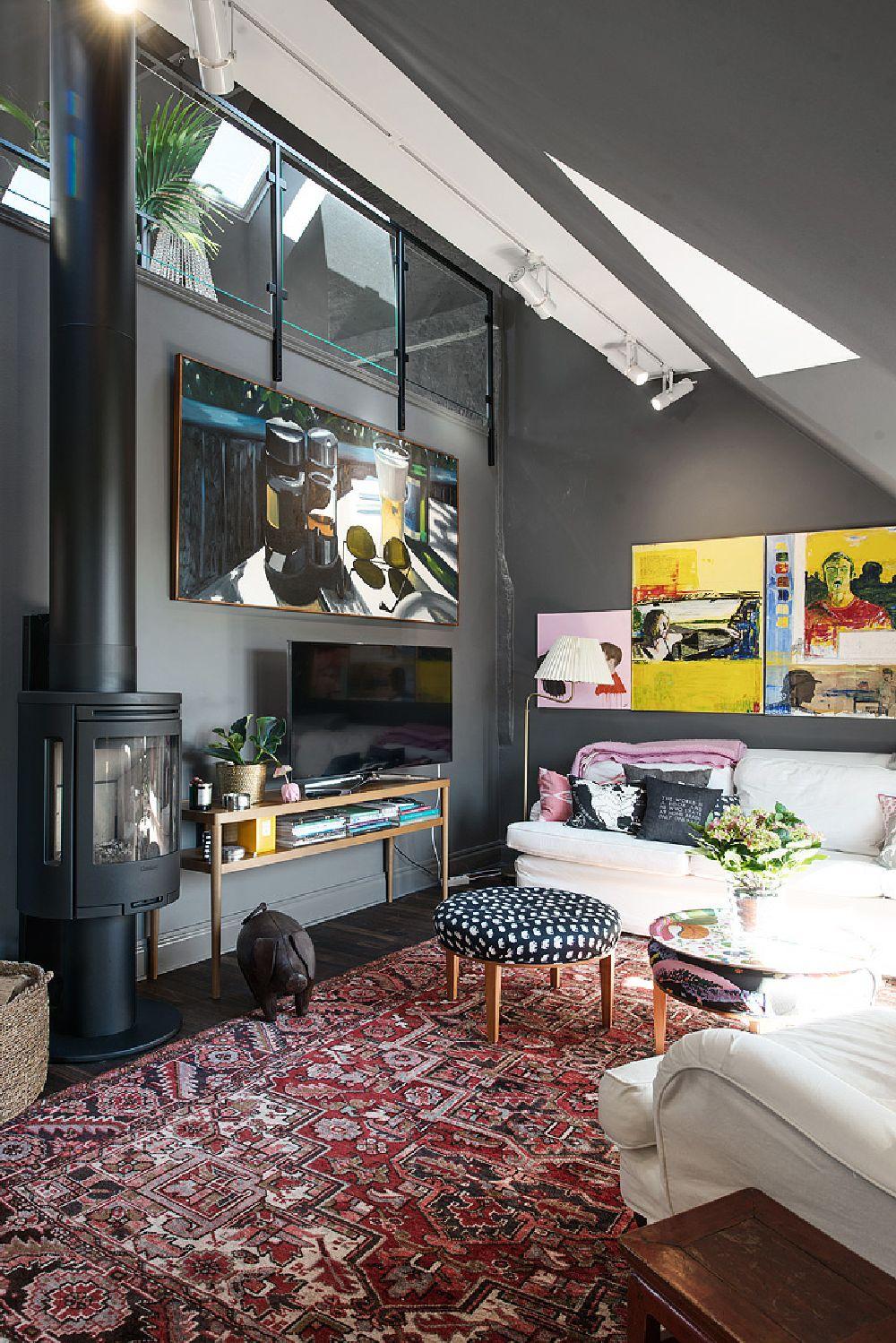 adelaparvu.com despre locuinta la mansarda cu pereti gri inchis, loft 120 mp Suedia, Foto Alvhem makleri (25)