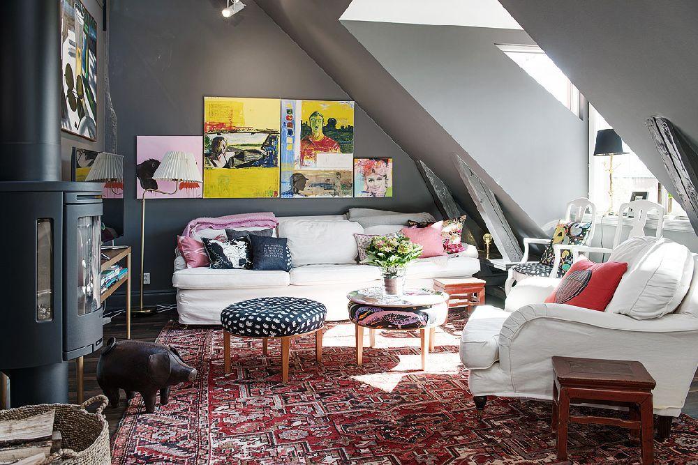 adelaparvu.com despre locuinta la mansarda cu pereti gri inchis, loft 120 mp Suedia, Foto Alvhem makleri (31)