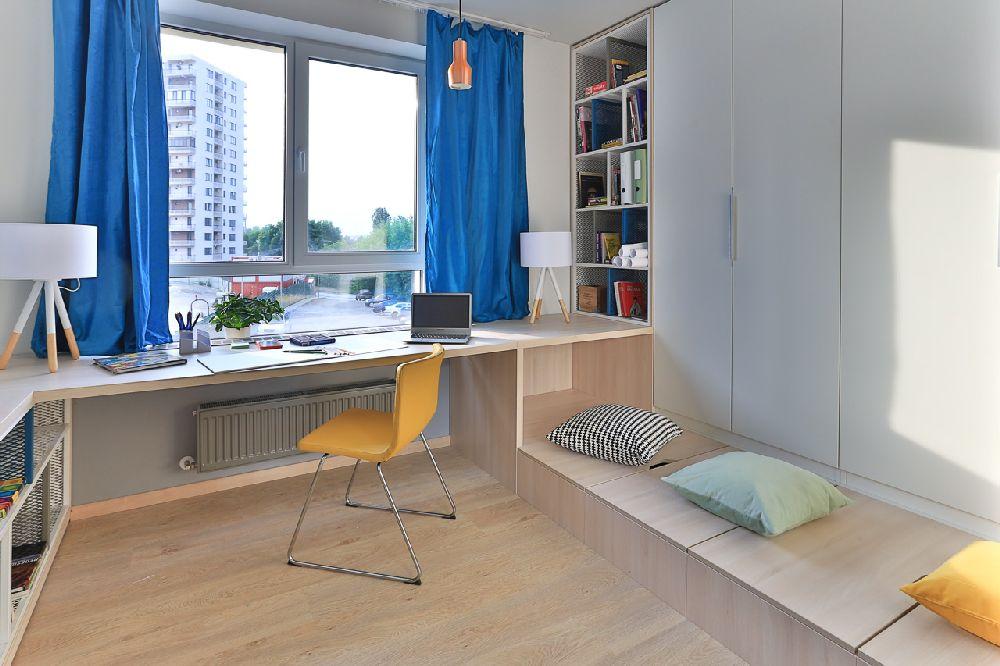 adelaparvu.com despre amenajare apartament 3 camere, The Park, Bucuresti, design interior arh Attila Kim, arh Bogdan Ciocodeica si arh Diana Rosu (11)