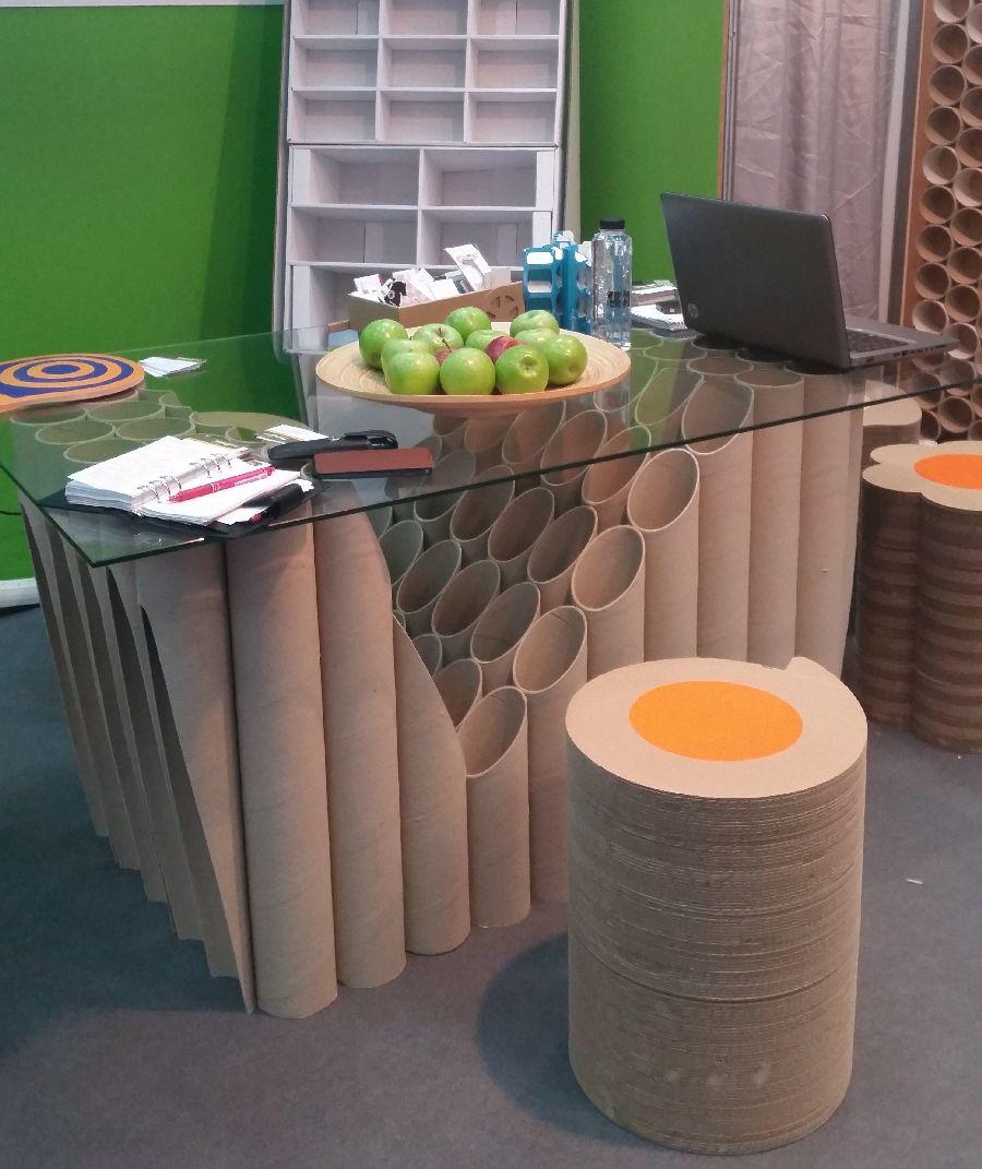 adelaparvu.com despre mobilier si corpuri de iluminat din carton, design Display Grup (11)