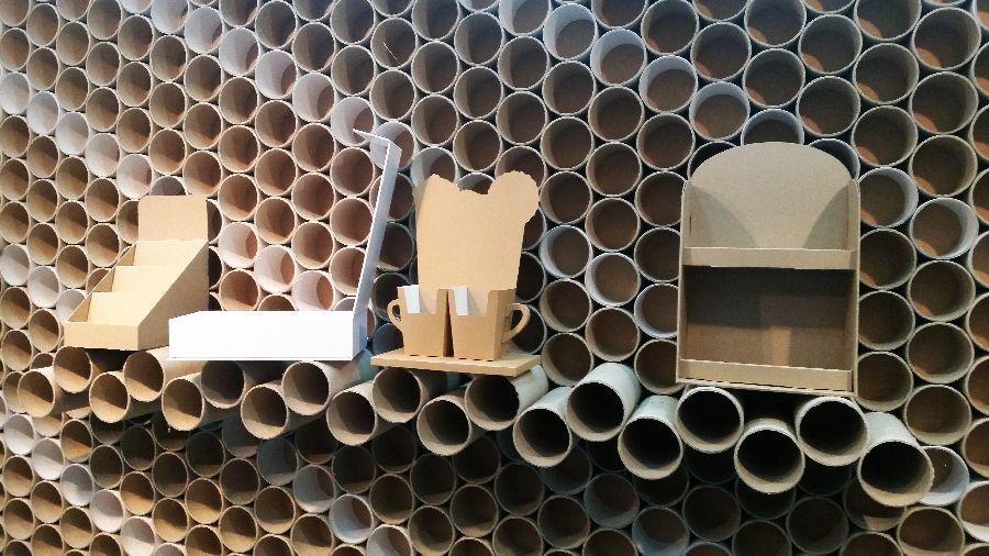adelaparvu.com despre mobilier si corpuri de iluminat din carton, design Display Grup (5)