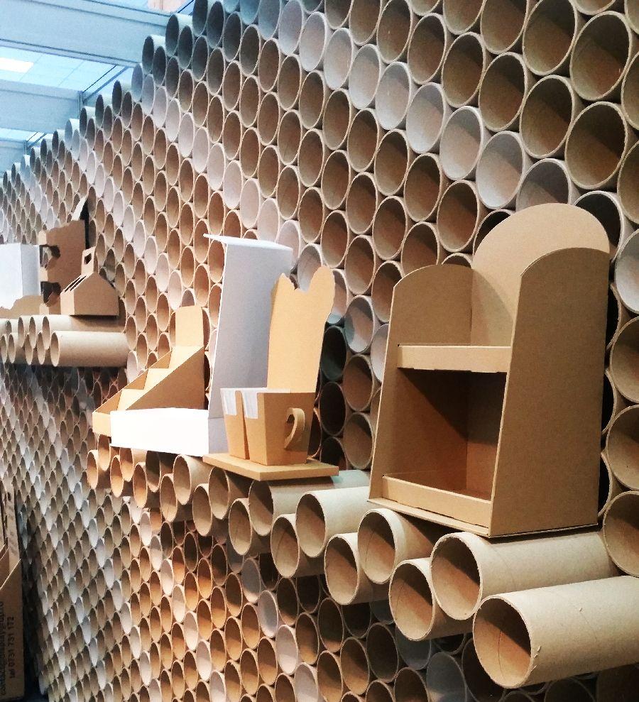 adelaparvu.com despre mobilier si corpuri de iluminat din carton, design Display Grup (6)