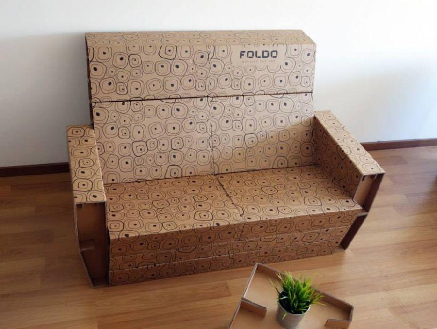 adelaparvu.com despre mobilier si corpuri de iluminat din carton, design Foldo (2)