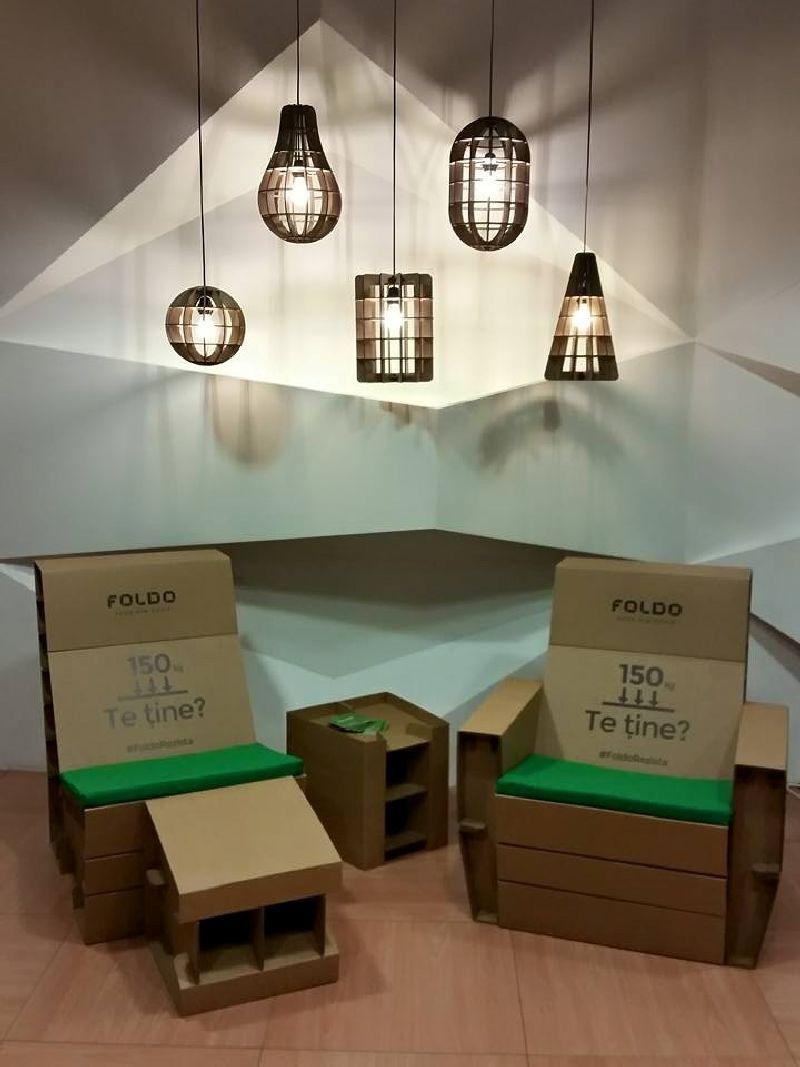 adelaparvu.com despre mobilier si corpuri de iluminat din carton, design Foldo (3)