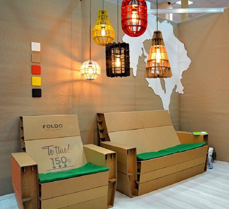 adelaparvu.com despre mobilier si corpuri de iluminat din carton, design Foldo (4)