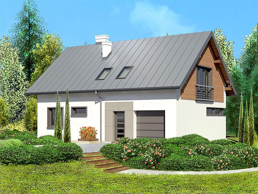 adelaparvu.com despre proiecte de case cu parter si parter si mandarda, Proiect extradom.pl Foto Extradom  (1)