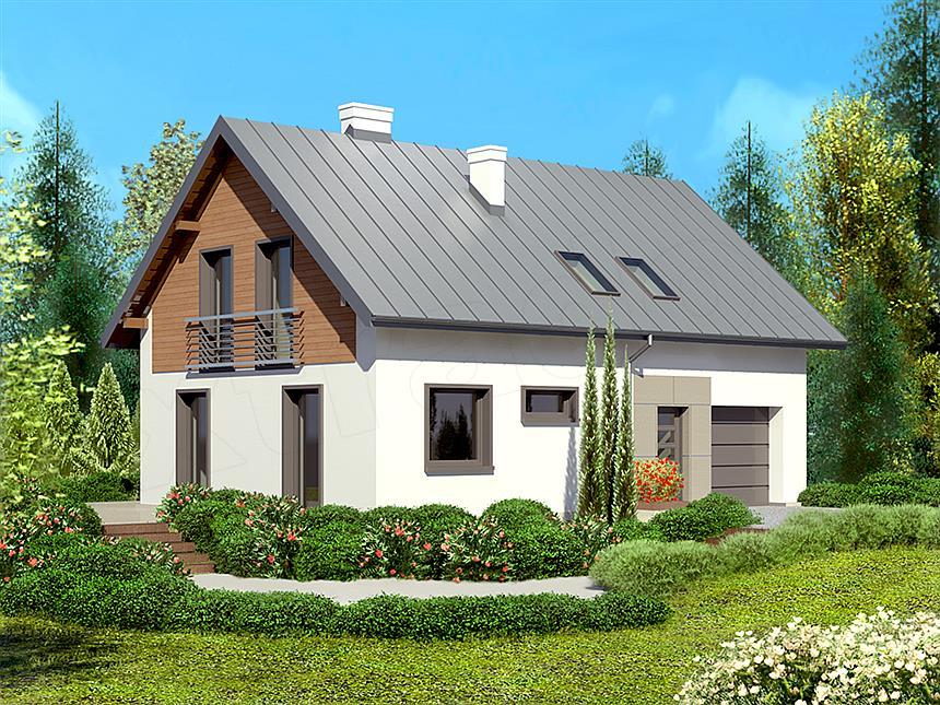 adelaparvu.com despre proiecte de case cu parter si parter si mandarda, Proiect extradom.pl Foto Extradom (2)