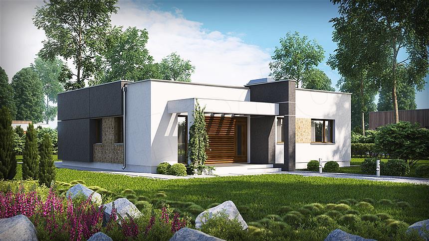 adelaparvu.com despre proiecte de case cu parter si parter si mandarda, Proiect extradom.pl Foto Extradom (4)