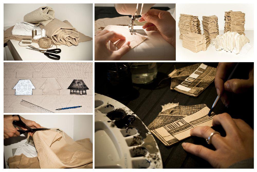 adelaparvu.com despre decoratiuni Craciun Square Art Studio, arh. Irina Riscu si arh. Alex Stanciu