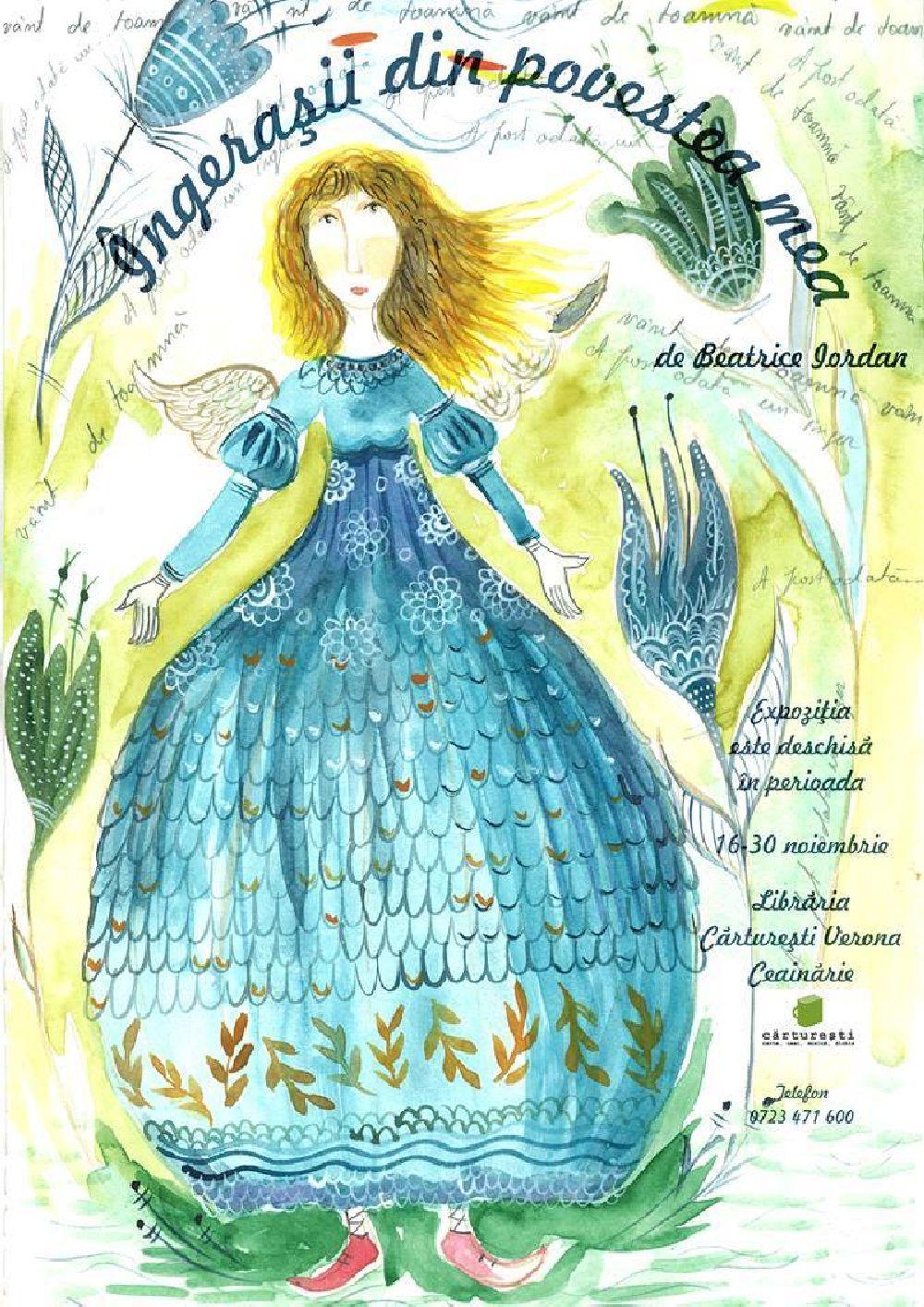 adelaparvu.com despre expozitia Ingerasii din povestea mea, Carturesti Verona, artist Beatrice Iordan (1)