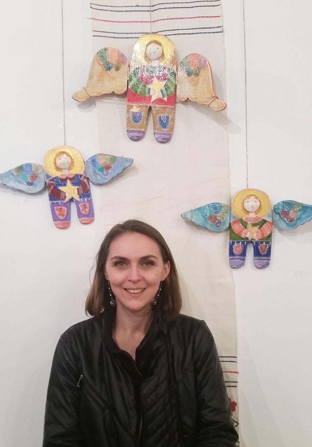 adelaparvu.com despre expozitia Ingerasii din povestea mea, Carturesti Verona, artist Beatrice Iordan (13)