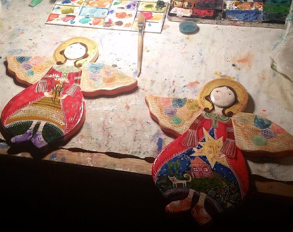 adelaparvu.com despre expozitia Ingerasii din povestea mea, Carturesti Verona, artist Beatrice Iordan (14)