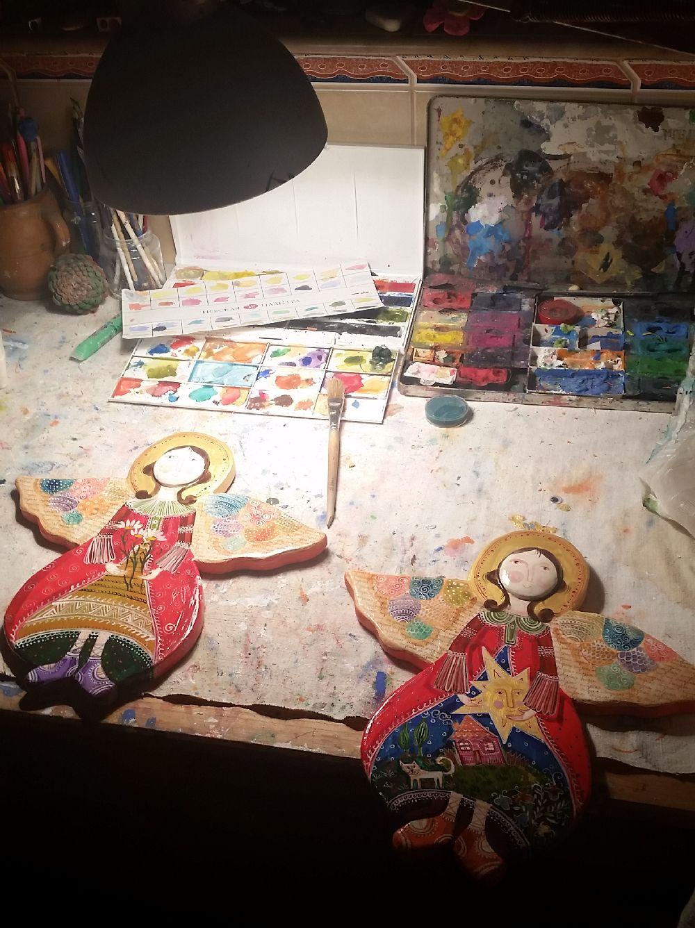 adelaparvu.com despre expozitia Ingerasii din povestea mea, Carturesti Verona, artist Beatrice Iordan (3)