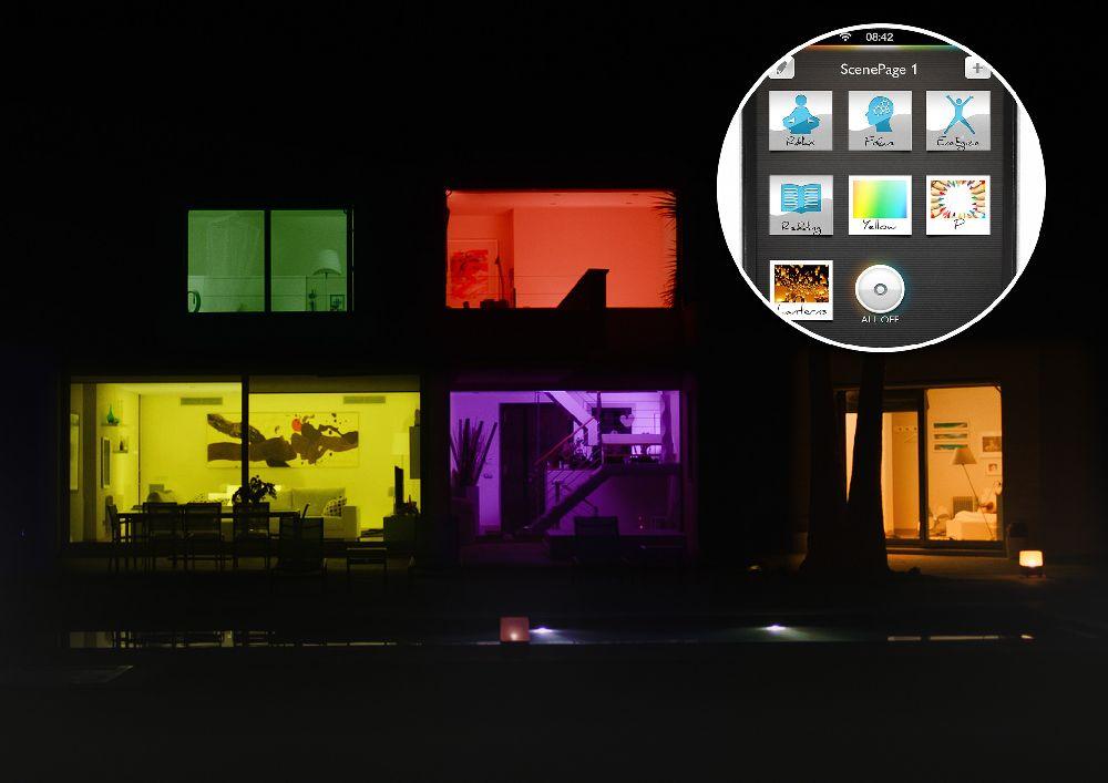 adelaparvu.com despre Philips Hue, sistemul de iluminat care coloreaza spatiile (2)