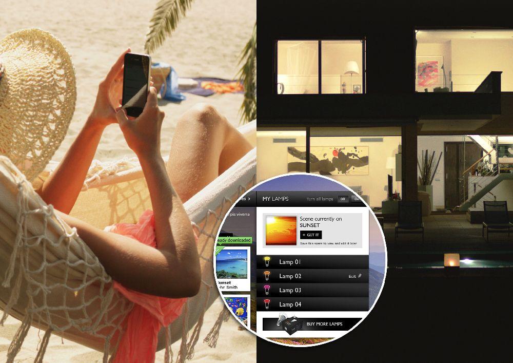 adelaparvu.com despre Philips Hue, sistemul de iluminat care coloreaza spatiile (6)