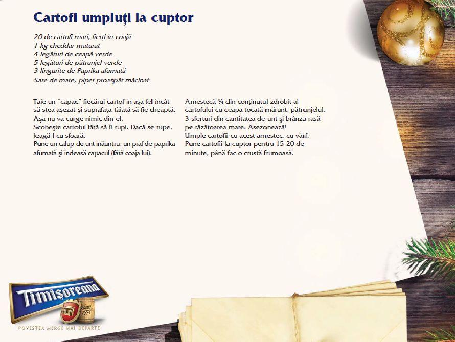 adelaparvu.com despre Sarbatori acasa cu Timisoreana, retete cu bere gatite de Marius Tudosiei, Cartofi umpluti la cuptor