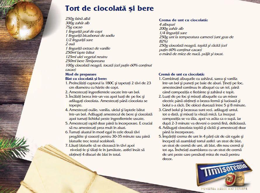 adelaparvu.com despre Sarbatori acasa cu Timisoreana, retete cu bere gatite de Marius Tudosiei, Tort de ciocolata si bere