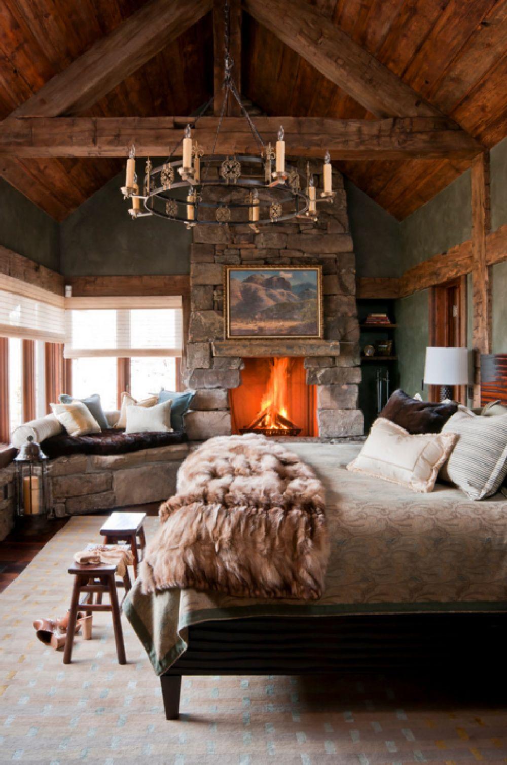 adelaparvu.com despre cabana de munte, Alpine Dancing Hearts, Monta SUA, arh Larry Pearson, designer de interior Debra Shull, Foto Yellowstone Traditions (5)