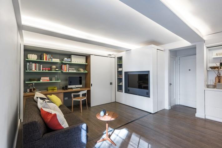 adelaparvu.com despre garsoniera 36 mp cu perete culisant, 5to1 apartment, design MKCA (1)
