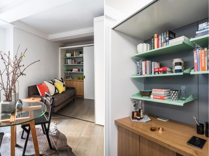 adelaparvu.com despre garsoniera 36 mp cu perete culisant, 5to1 apartment, design MKCA (14)