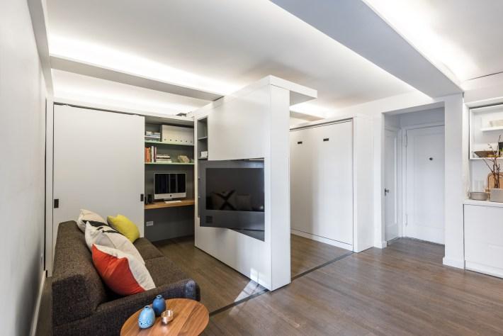adelaparvu.com despre garsoniera 36 mp cu perete culisant, 5to1 apartment, design MKCA (3)