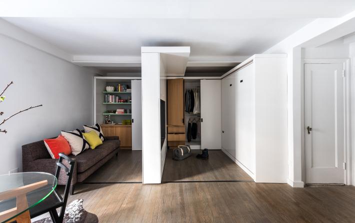 adelaparvu.com despre garsoniera 36 mp cu perete culisant, 5to1 apartment, design MKCA (6)