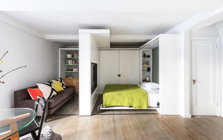 adelaparvu.com despre garsoniera 36 mp cu perete culisant, 5to1 apartment, design MKCA (7)