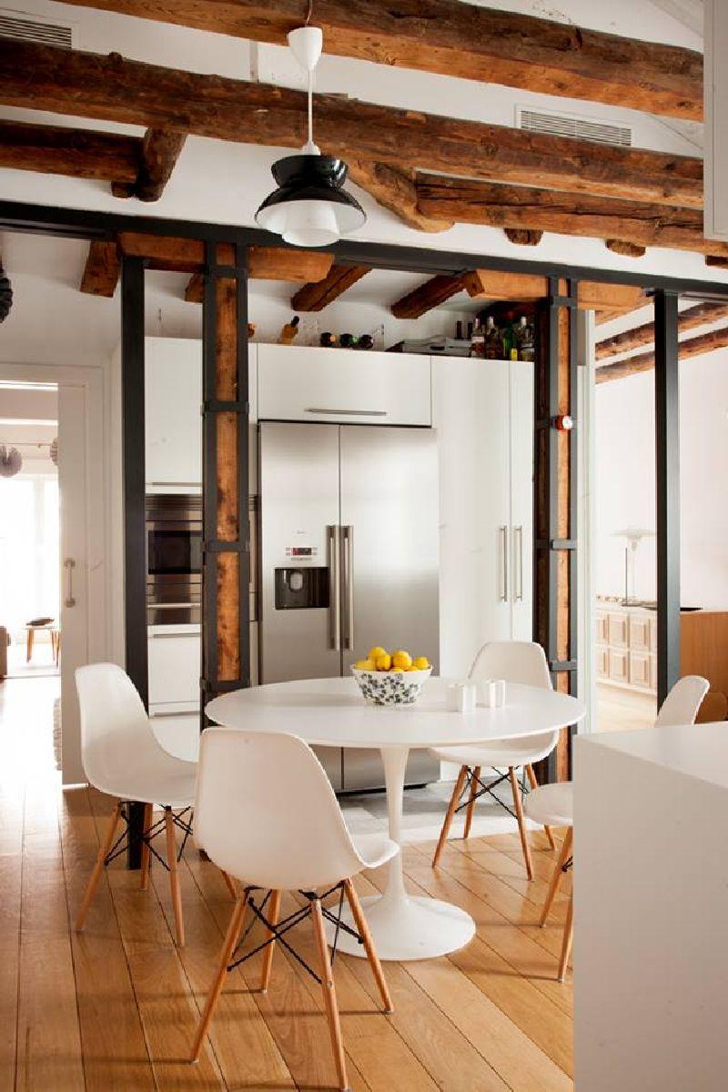 adelaparvu.com despre locuinta la mansarda cu camere mici, design interior P.Apls Arquitectos, Foto ElMuelbe (3)