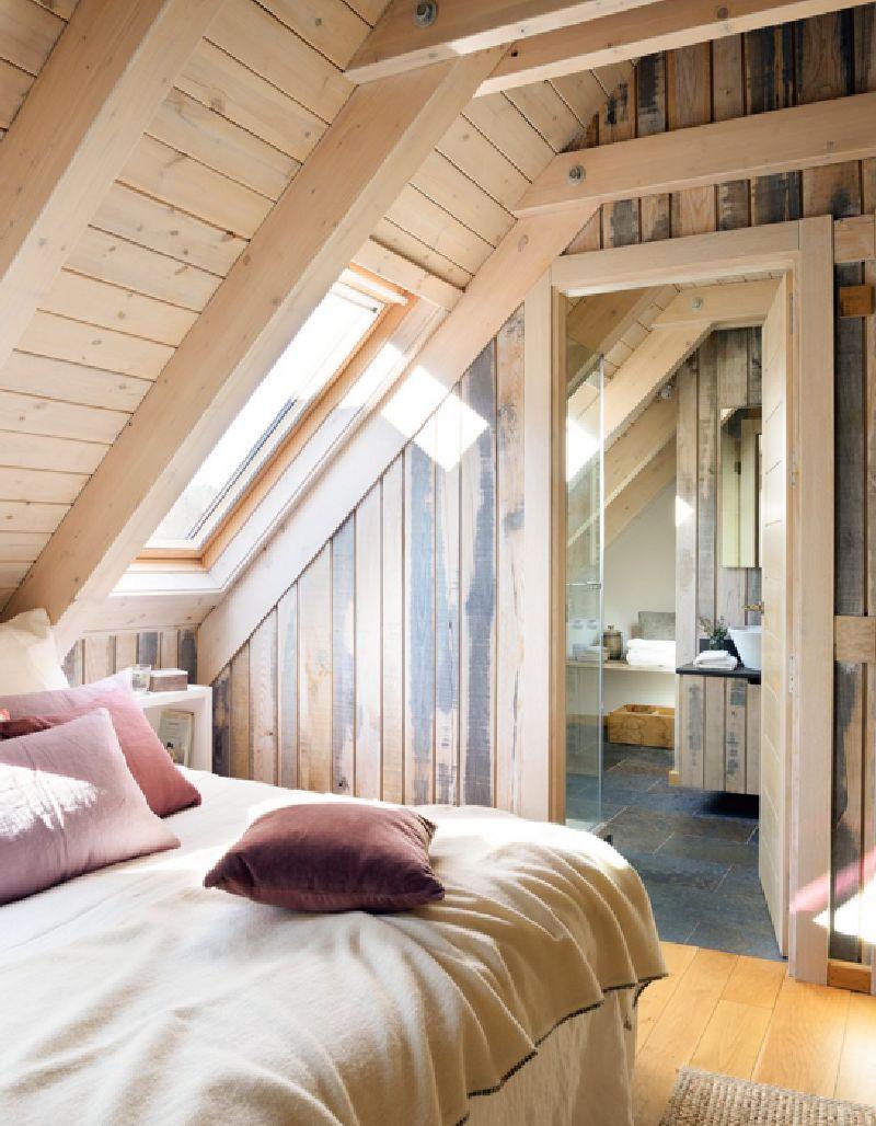adelaparvu.com despre mansarda din lemn modern amenajata, design interior Carolina Juanes, Foto ElMueble (11)