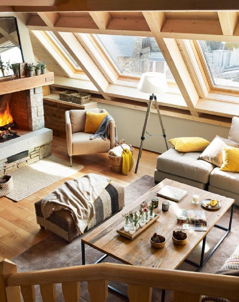 adelaparvu.com despre mansarda din lemn modern amenajata, design interior Carolina Juanes, Foto ElMueble (3)