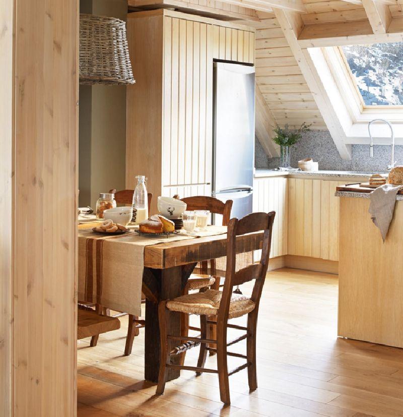 adelaparvu.com despre mansarda din lemn modern amenajata, design interior Carolina Juanes, Foto ElMueble (7)