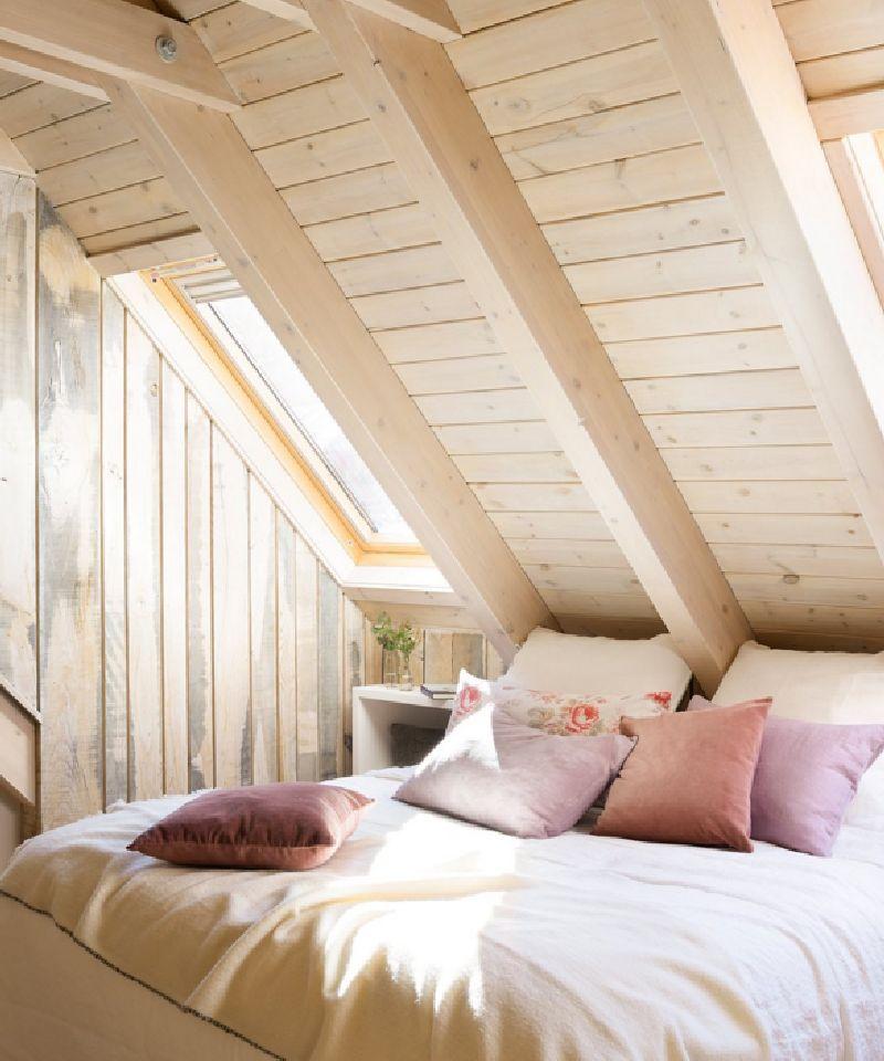 adelaparvu.com despre mansarda din lemn modern amenajata, design interior Carolina Juanes, Foto ElMueble (9)