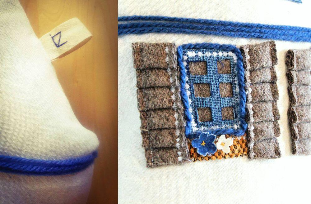 adelaparvu.com despre perne in forma de case, designer arh.Ioana Zdralea, model Perina Ardeal detalii