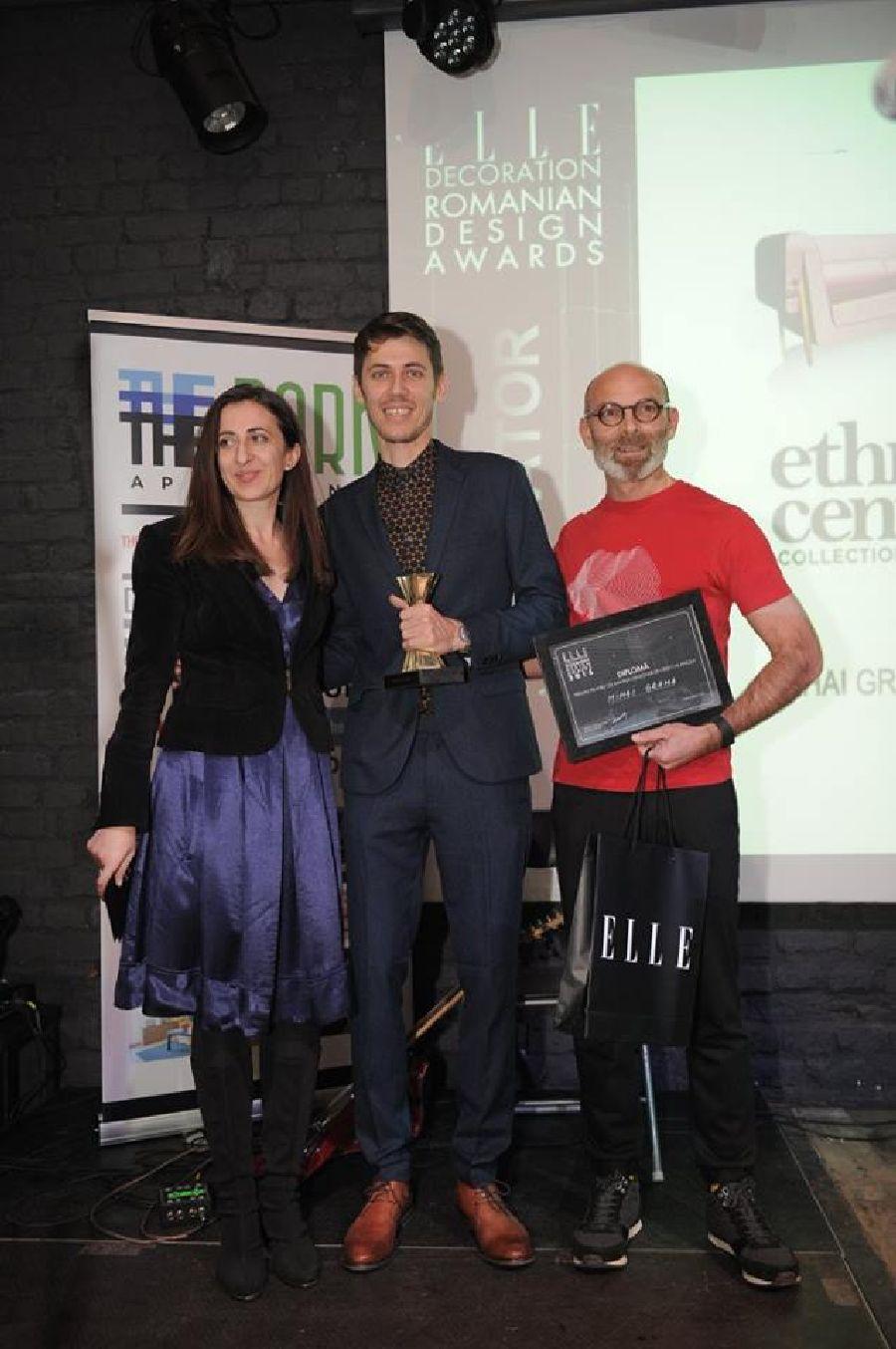 adelaparvu.com despre premiile Elle Decoration 2015, Ileana Raducanu redactor sef Elle Decoration, designerul Mihai Grama si designerul Catalin Nastasoiu
