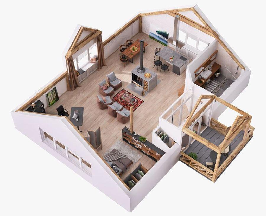 adelaparvu.com despre proiect de amenajare locuinta la mansarda 112 mp, design interior Rover Building Company (13)