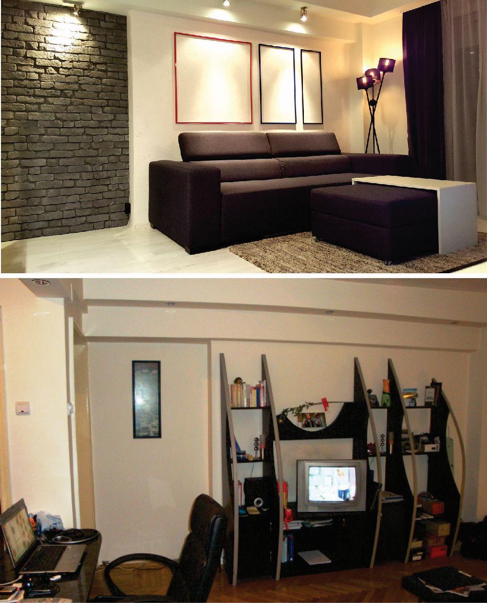 adelaparvu.com despre renovare apartament 2 camere Bucuresti, arh Andreea Besliu (10)