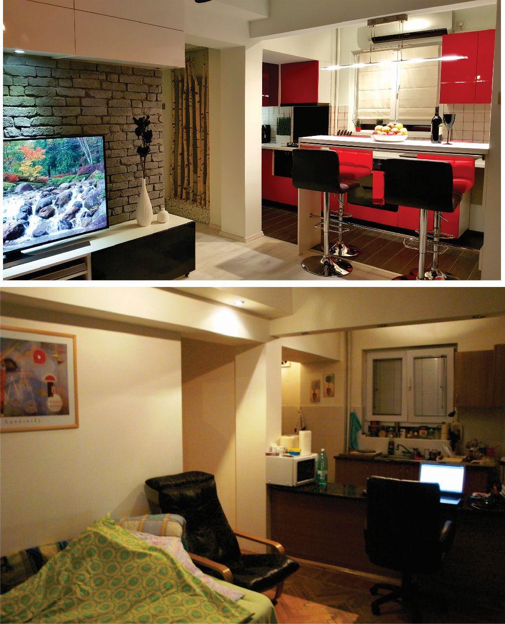adelaparvu.com despre renovare apartament 2 camere Bucuresti, arh Andreea Besliu (12)