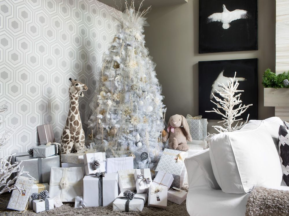 All White Christmas Tree Beauty