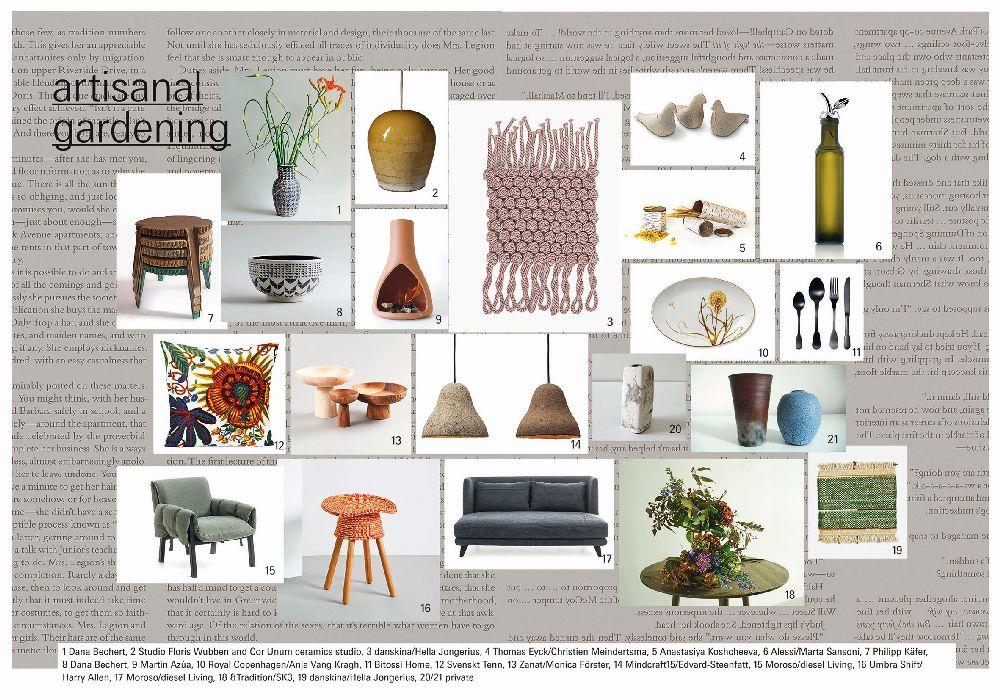 adelaparvu.com despre Interior Design Trends 2016, Ambiente mood board, Trend Artisanal Gardening