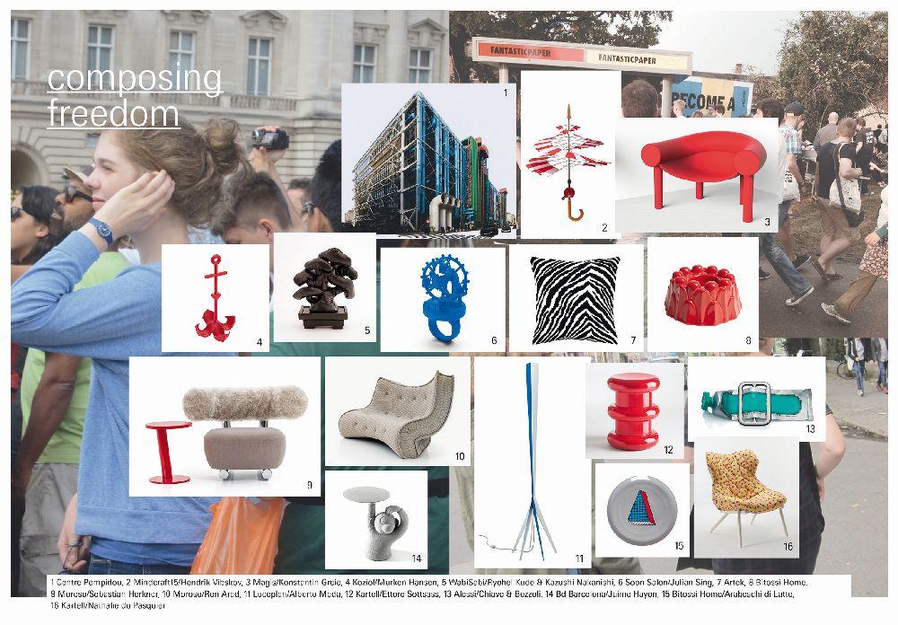 adelaparvu.com despre Interior Design Trends 2016, Ambiente mood board, Trend Composing Freedom