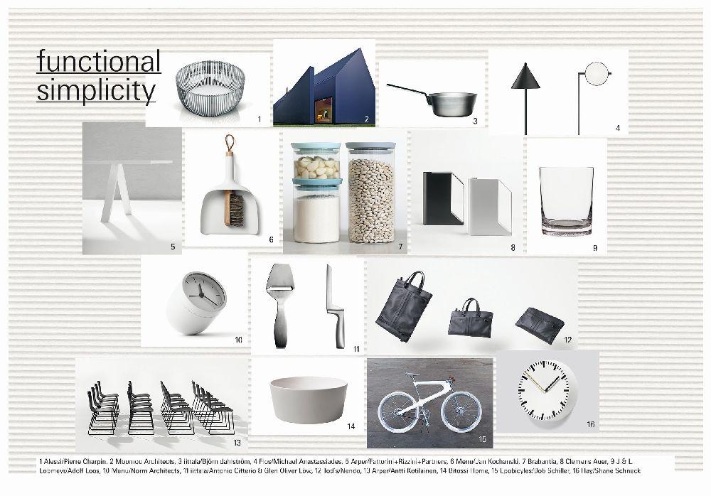 adelaparvu.com despre Interior Design Trends 2016, Ambiente mood board, Trend Functional Simplicity