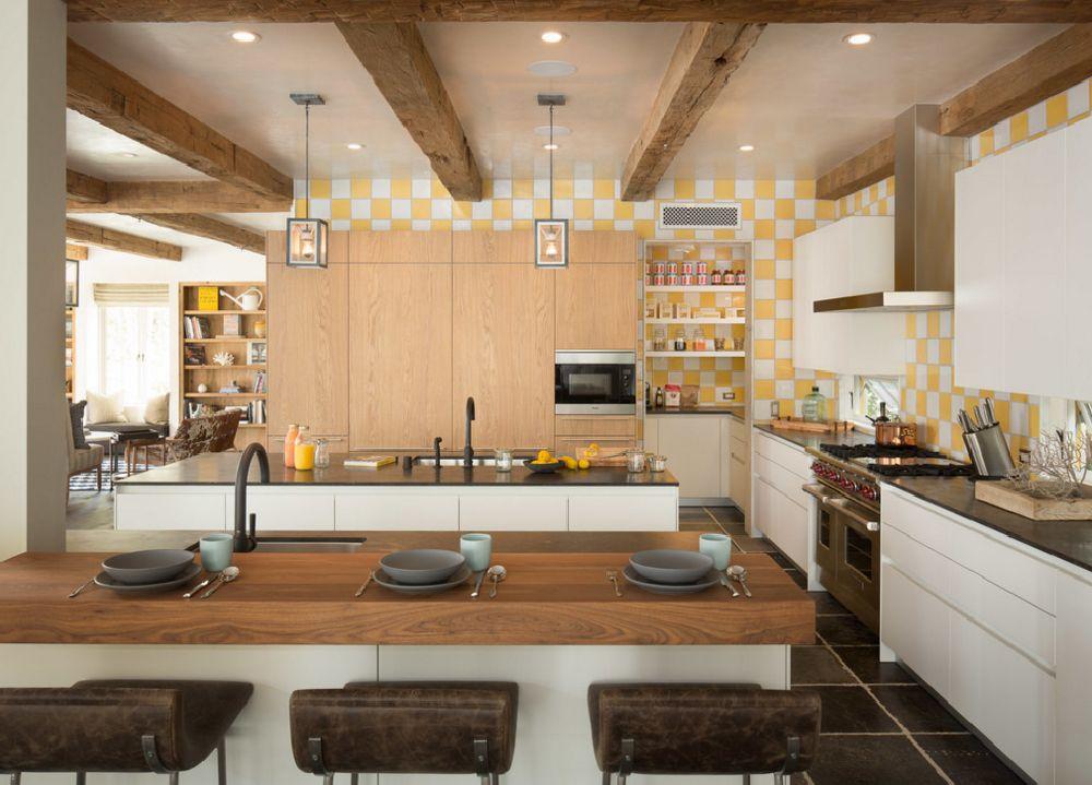 adelaparvu.com despre casa cu interior rustic combinat cu actual, Los Angeles, Foto Michael Kelley (4)