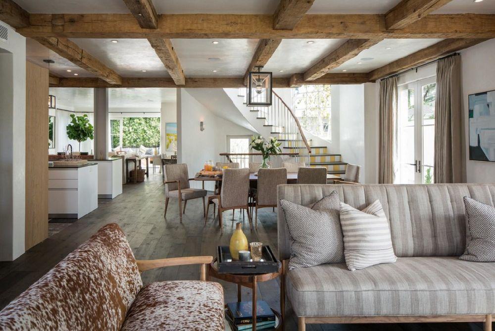 adelaparvu.com despre casa cu interior rustic combinat cu actual, Los Angeles, Foto Michael Kelley (9)