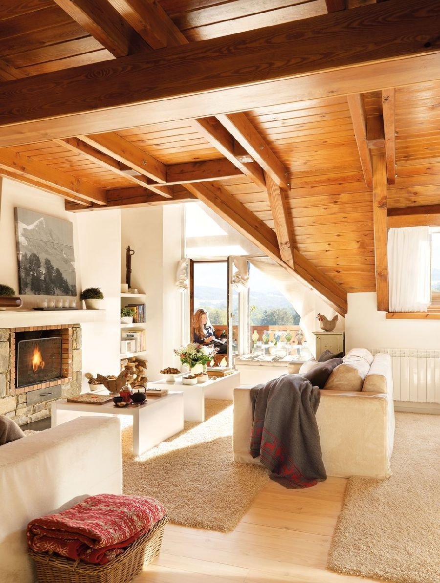 adelaparvu.com despre casa montana decorata in alb, casa Spania, designer Mercedes Alvarez de Toledo, Foto ElMueble (15)
