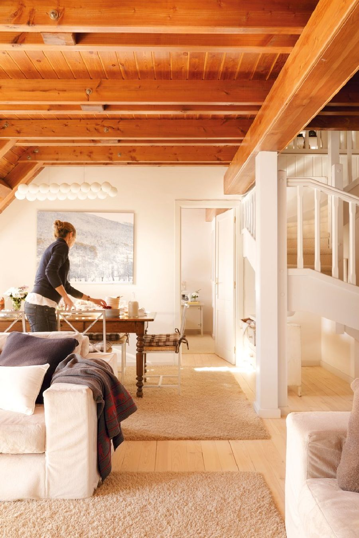 adelaparvu.com despre casa montana decorata in alb, casa Spania, designer Mercedes Alvarez de Toledo, Foto ElMueble (5)