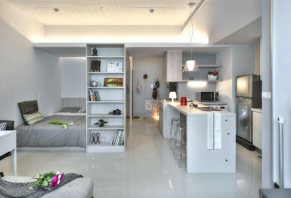 adelaparvu.com despre garsoniera 32 mp cu pat si loc de canapea, design interior CloudPen, Foto CloudPen (12)